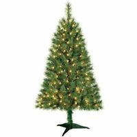 New! Indiana Spruce 4 ft Artificial Christmas Tree Pre-Lit Clear Lights 4ft