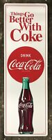 """COCA-COLA """"Things Go Better With Coke"""" Vintage Tin Metal Sign, 54"""" x 17.75"""""""