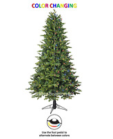 GE 7-FT PRE-LIT ASHVILLE FIR TREE w/500 MICRO BRIGHT COLOR CHANGING LED LIGHTS