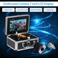 7'' Video-Monitor Fish-Finder Color Underwater Camera DVR Recorder 15M IP68 K5A8