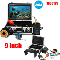 9'' Video-Monitor Fish-Finder Color Underwater Camera DVR Recorder 30M IP68 D2Z6