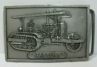 1975 Caterpillar Quality Products Belt Buckle Tractor Pewter CAT Vintage