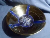 Melstrom Black and Blue Crystalline Pottery Bowl