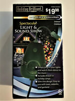 HOLIDAY BRILLIANT INDOOR/OUTDOOR LIGHT & SOUND SHOW--8 HOLIDAY SONGS