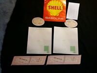 1 COMPLETE  SET SUPER SHELL  GAS PUMP SIGN / GAS PUMP DECALS  11