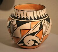 Southwest Native American Acoma Pueblo Pottery Polychrome Olla