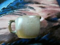 Vintage Frankoma Green and Brown Creamer Pitcher