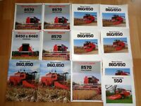 Group 12 vintage Massey Ferguson combine brochures Good **