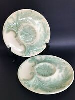 Vintage 1940's GIEN France French Majolica Green Artichoke Plate Serving Dish