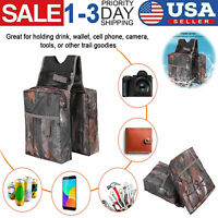 Universal Canvas Motorcycle ATV Tank Saddle Bags Saddlebags Side Bag Waterproof