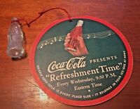 Coca-Cola 1930s Ray Noble Radio Fold-Out Card String With Glass Coke Bottle