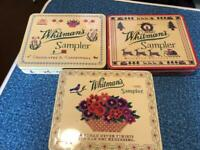 Whitman Sampler Tin Hinged Boxes, Empty 3 pcs. Box 1