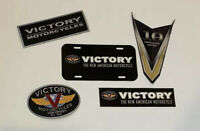 Victory Motorcycle Patches License Plate And Sticker Lot Auction