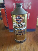 Vintage Skelly Supreme Outboard Motor Oil Cone Top Can