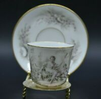 Boyer Old Paris French porcelain Hand Painted Classical Scene Tea Cup