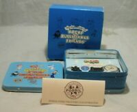 Fossil Watch-Rocky And Bullwinkle-Lunchbox Tin Complete