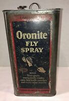 Vintage Standard Oil Oronite Fly Spray Can 1 Gallon