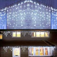 13-130FT Curtain Icicle Lights Wedding LED Fairy Christmas Indoor Outdoor Decor