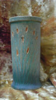 Antique/vintage art pottery (cattails) vase
