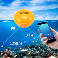 Lixada Portable  36M/118ft Depth  Wireless Remote Fish Finder F IOS Android Gift