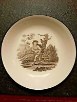 1 Rare Antique ENGLISH Soft Paste Transferware saucer    early CIRCA 1820