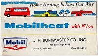 Mobilheat Mobile Oil & Gas Company New York Graphic Advertising Ink Blotter