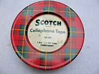 VINTAGE SCOTCH CELLOPHANE TAPE NO. 600  ADVERTISING TIN With Tape 5