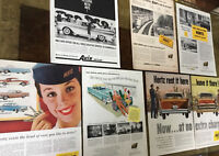 Lot Vintage ADS / ADVERTISING ~ HERTZ ~ AVIS ~ Car Rental Companies ~ Art Prints