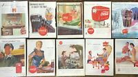 Lot Vintage ADS / ADVERTISING ~ COCA-COLA ~ COKE ~ Soda Advertisements