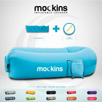 Mockins Inflatable Blow Up Lounger Outdoor Chair Bed Travel With Bag amp; Pockets