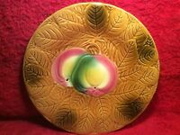 Majolica Plate Pretty Vintage French Majolica Plate Fruit & Leaves