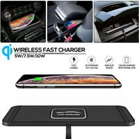 QI Wireless Car Phone Charger Fast Charging Pad Mat For iPhone Samsung Universal $17.72