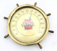 Vintage Petrol Thermometer Sign Gas Oil and Garage Service Advertising Boat Ship