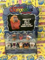 1988 MCDONALD'S HAPPY MEAL ROBOTS FOOD CHANGEABLES STORE DISPLAY COMPLETE SET