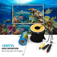 1200TVL Underwater Fishing Camera 24 LEDs Lamp Ice Fishing Cam Set w/Cable G8D7