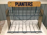 Vintage Planters Peanuts Metal Wire Display Rack - Store Counter
