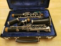 Bundy 577 Resonite Selmer USA Clarinet Orig. Mouthpiece & Hard Sided Carry Case