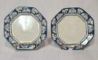The Potting Shed Dedham Pottery Hexagonal Bunny Rabbit Plate - Pair