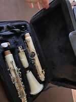 White Bb Clarinet With Carrying Case