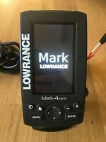 Lowrance Mark-4 HDI Sonar Fish Finder with GPS Chartplotter, Excellent Condition