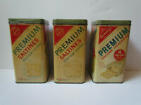 Vintage Nabisco Saltine Crackers Tins Lot Of 3 1969 1950s