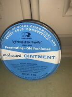 Vintage medicated ointment Tin Rawleigh Blue amp; White