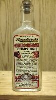 Vintage Medicine Hand Crafted BottleRawleigh#x27;s Colic Cure for Horses w Cannabis