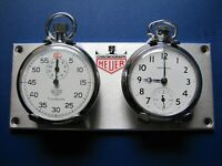 HEUER STOPWATCH CHRONOMETER PANEL Porsche Jaguar Austin-Healey TR3 TR3A TR4 TR6