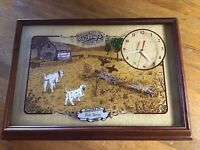 Vintage Barq's Root Beer Hanover Wall Clock Wood Frame w/Glass Advertising 1989