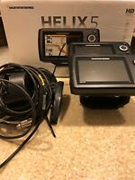 Two (2) Humminbird Helix 5 Di Fish Finder PAIR - Bow And Console Combo