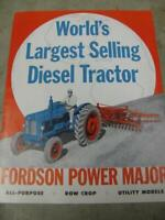 Fordson Power Major Diesel Tractor Sales Brochure 8 pages