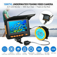 NEW Lixada 20M Fish Finder Underwater Ice Fishing Video Camera 4.3