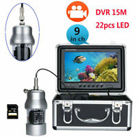 Underwater Fishing Video Camera Fish Finder HD 9quot;DVR 15M Calbe 360 Degree Camera