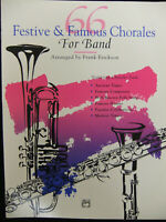 66 Festive amp; Famous Chorales For Band Eb Alto Clarinet Eb Contrabass Clarinet